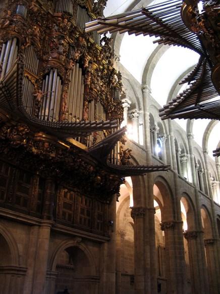 Santiago de Compostela organ, photo by Jose Manuel