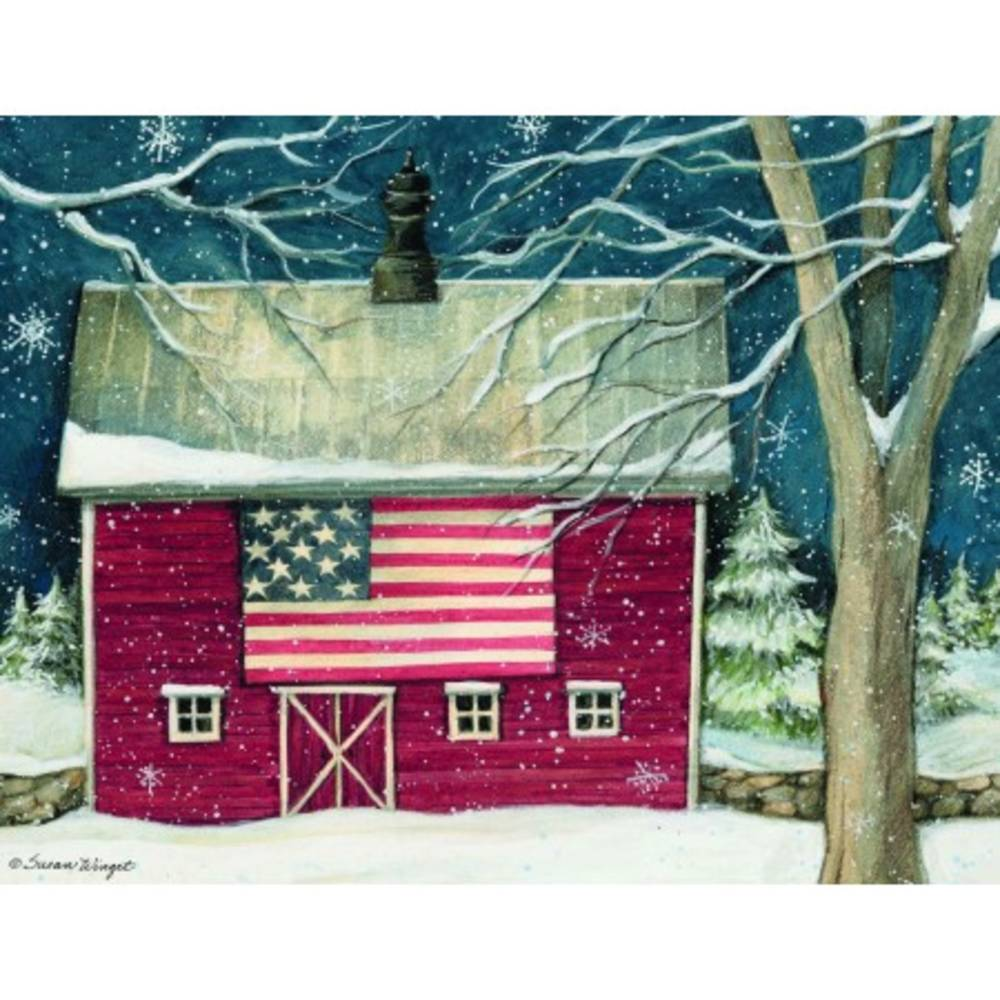 Patriotic Holiday Boxed Christmas Cards Piper Classics