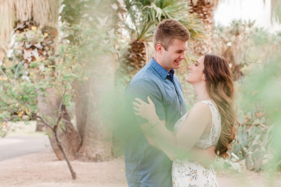 agua caliente engagement session