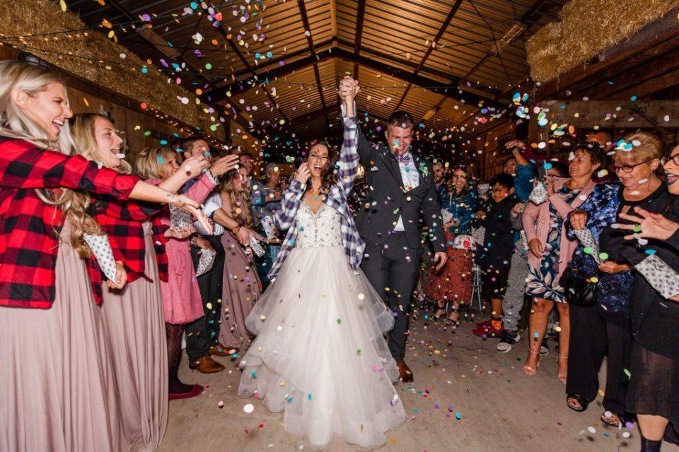 Wedding Confetti Exit