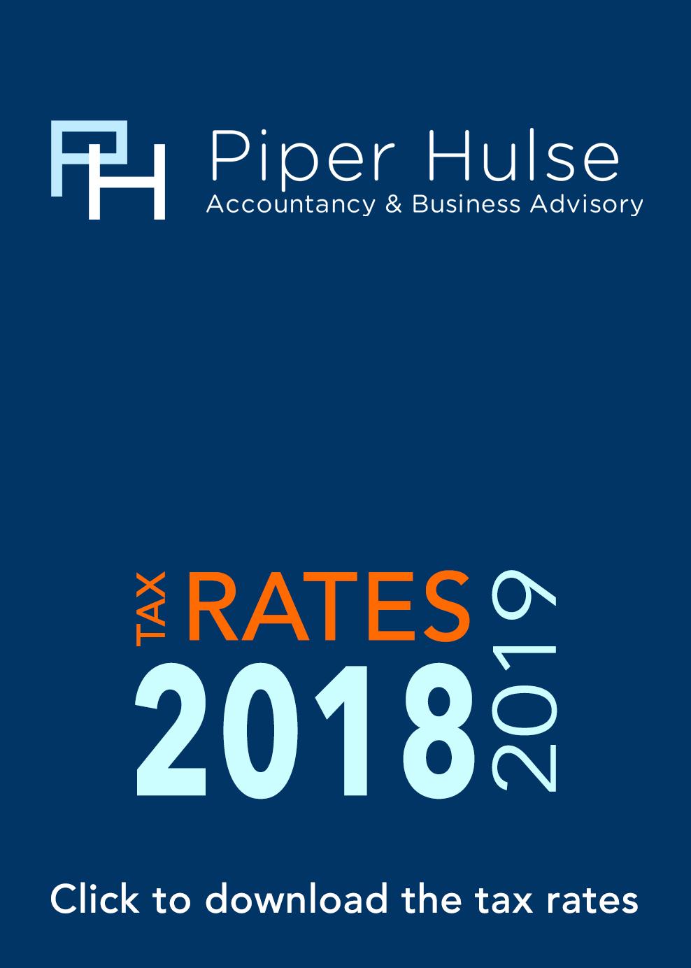 2019 Tax Rates