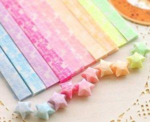 Japanese origami stars