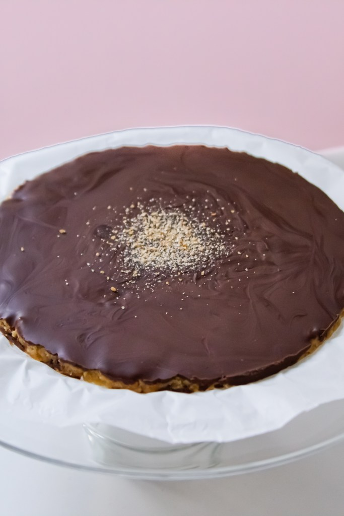 Unbaked Reese's Tarte ganz