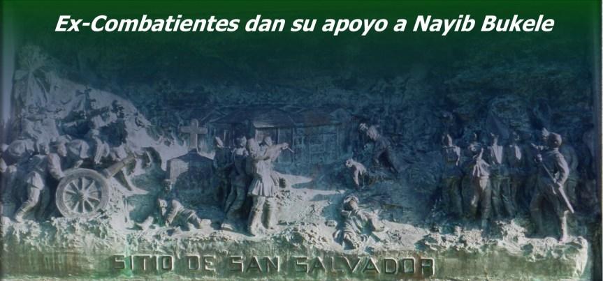 Veteranos dan su apoyo a Nayib. Llamado a todos los ex-convatientes a la Feria Internacional Octubre 21, 8:00 AM. Pabellon 7 para celebrar con Nayib!