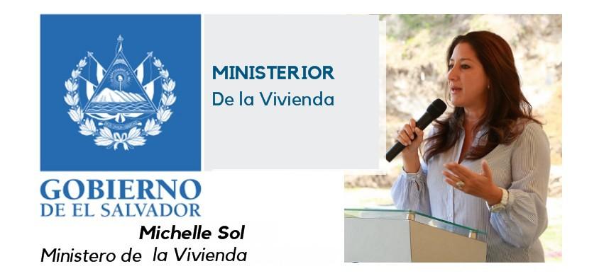 Michelle Sol: Ministra de Vivienda.