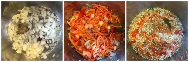 Couscous pulao instant pot pressure cooker