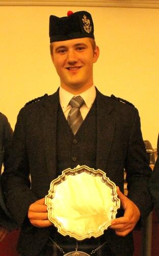 Cameron MacDougall, winner of the prestigious MacGregor Memorial Piobaireachd