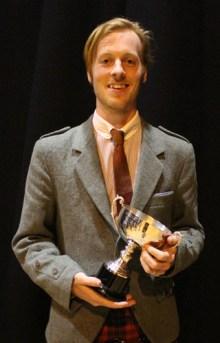Nick Hudson, winner of the 'B' MSR
