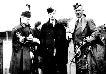 P/M Donald MacLeod, P/M Donald MacLean and a young John D. Burgess
