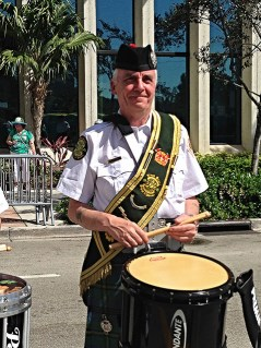 Tommy on parade...he had a wonderful rapport with the drummers