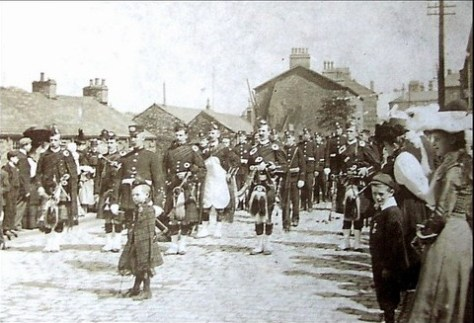 Accrington Pipe Band in 1897