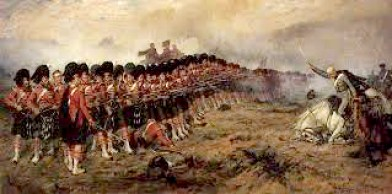 The well-known painting of the Argylls and the 'Thin Red Line'