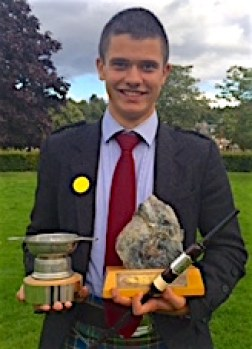 Archie Drennan, winner of the 18 and under Piobaireachd and Dress and Deportment