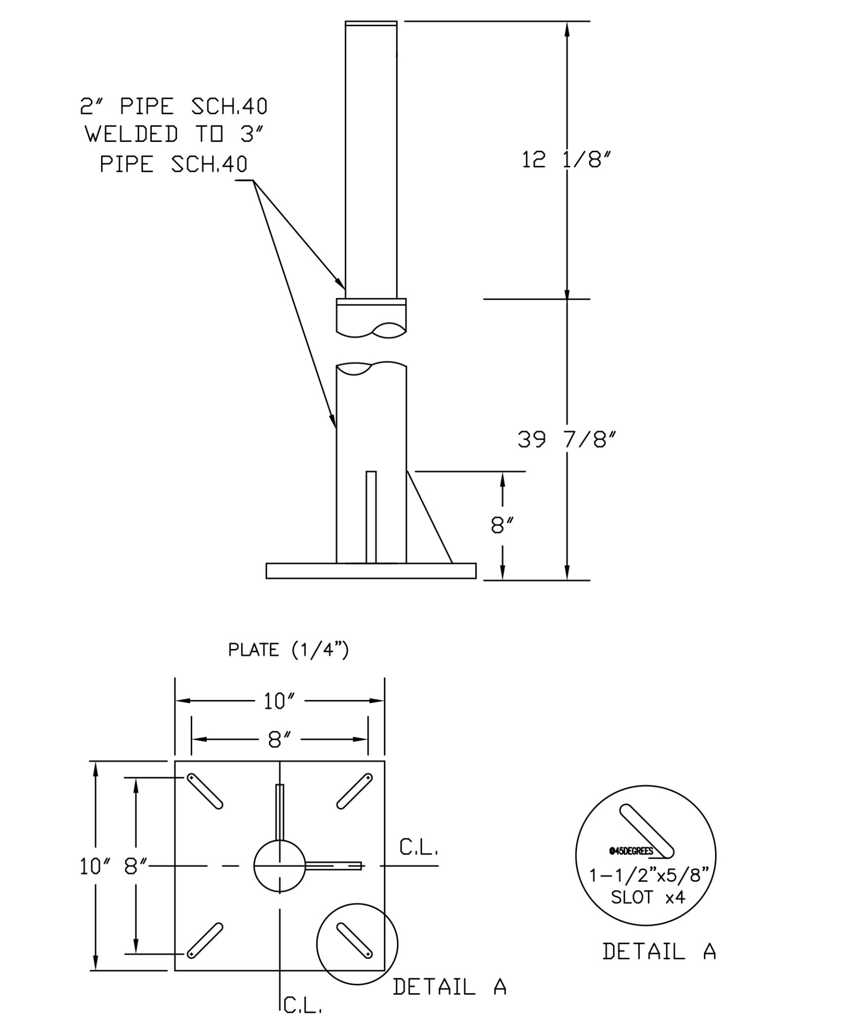 Floor Mounts For Piping Products