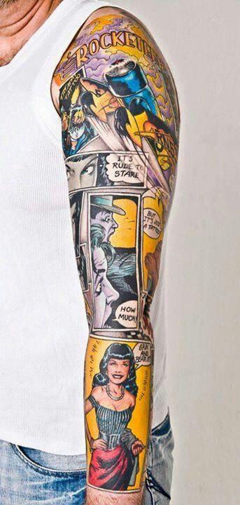 tattoo braço rocketeer