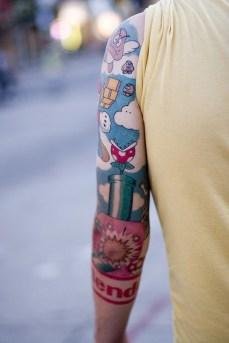 tattoo braço mario