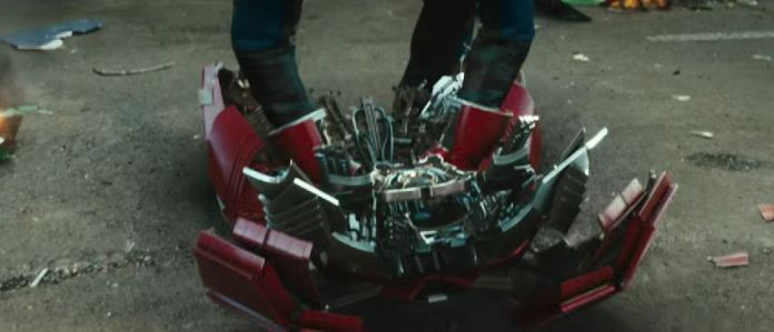iron man 2 armor red_ silver
