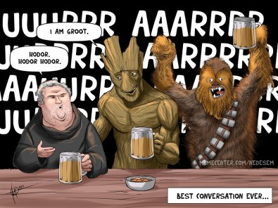 hodor_groot_game of thrones_guardians of galaxy chewbacca star wars
