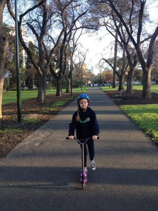 Scootering Through Faulkner Park