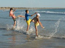 Splashing at Cable Beach