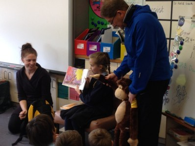 Reading the story about Monkey