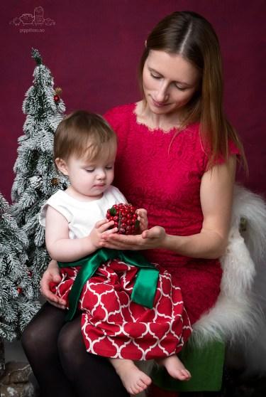 julekortfotografering, mor og barn, fotograf Kolbotn