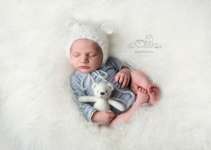 Nyfødtfotografering i et Fotostudio på Kolbotn