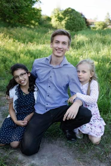 Familiefotografering utendørs