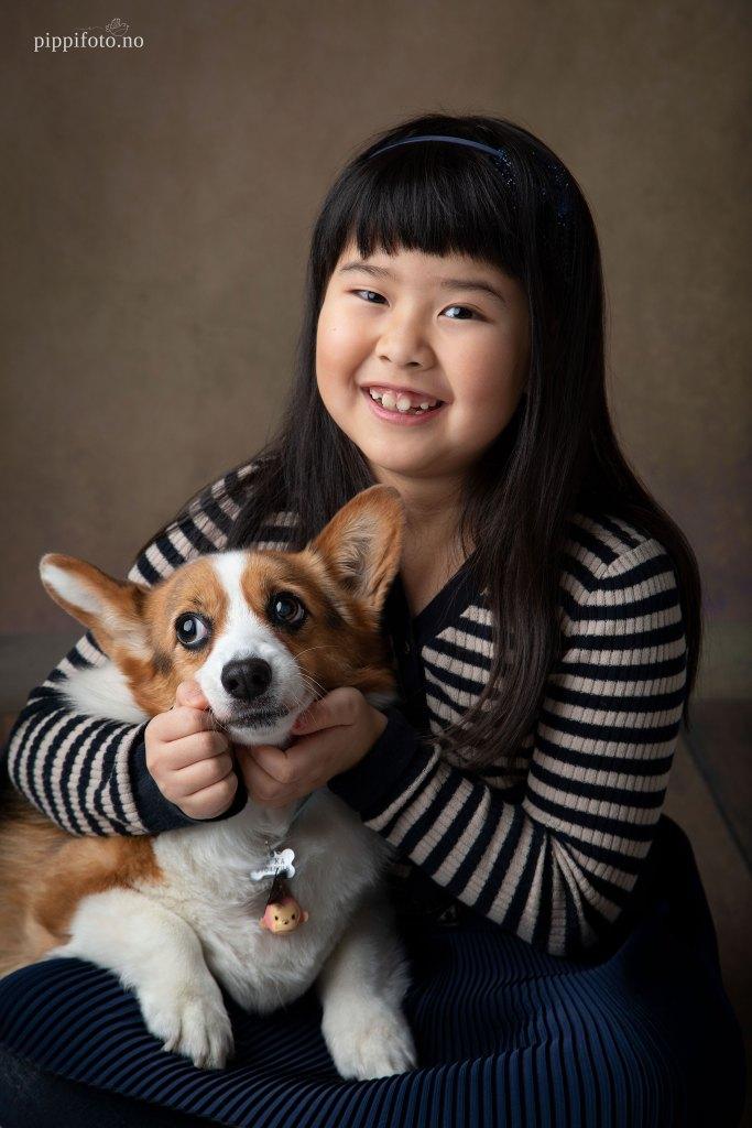 familiefotografering med kjæledyr