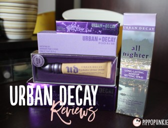 Review: URBAN DECAY – Face Primer, Lip Primer, Eyeshadow Primer, Makeup Setting Spray, Oil-Control Gel จัดเต็ม!!~