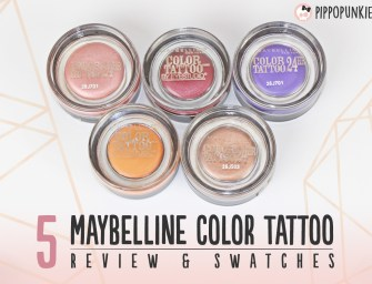 Review & Swatches: อายแชโดว์เนื้อครีมเจล Maybelline Color Tattoo 5 สี