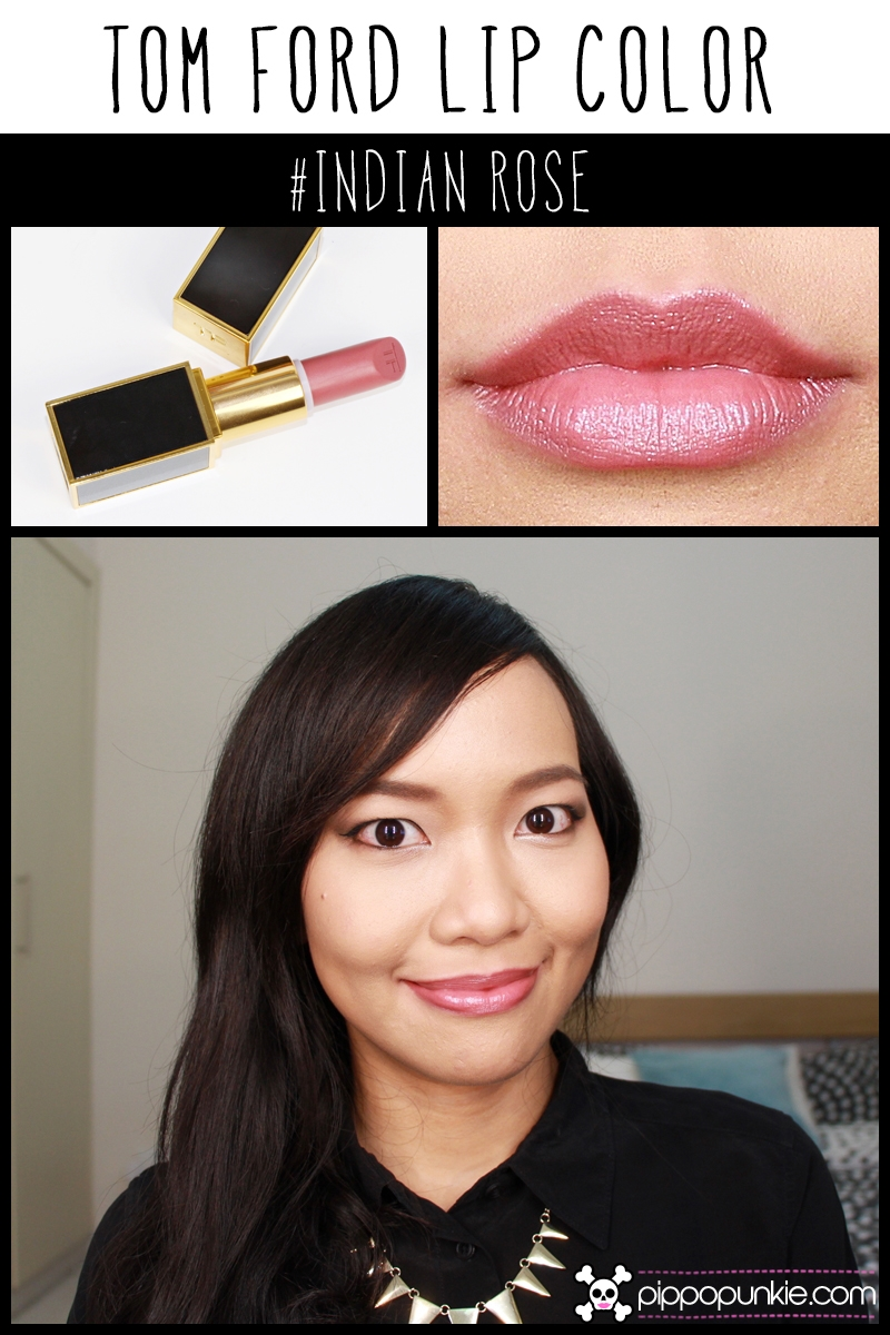 Tom Ford Lip Color Review & Swatches สี Indian Rose
