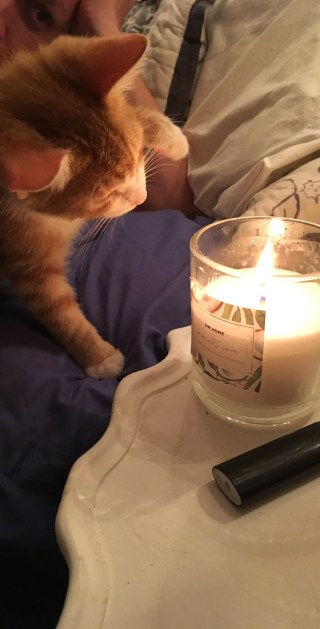 34. Pip playing with candle