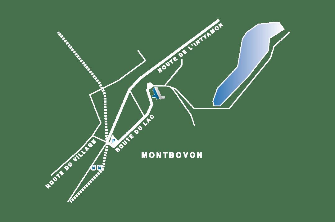 Plan d'accès de la société Lanthmann Construction Bois à Montbovon