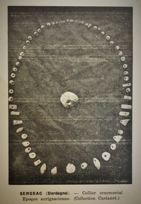 Perles préhistoriques de Castel Merle en Dordogne
