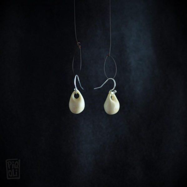 Boucles d'oreilles reproduction des perles panier de castel merle