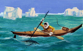 dibujo kayak esquimal