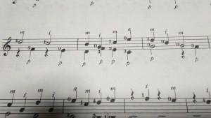 ギター左指記号