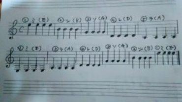 開放弦ーアポヤンド奏法ー練習