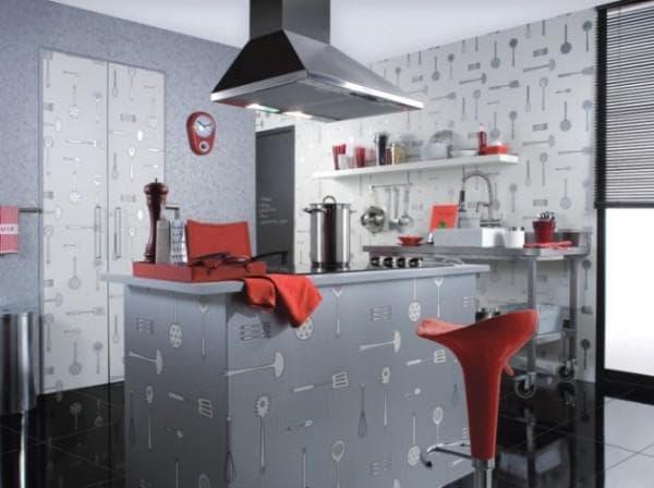 Как выделить обоями обеденную зону на кухне – варианты ...