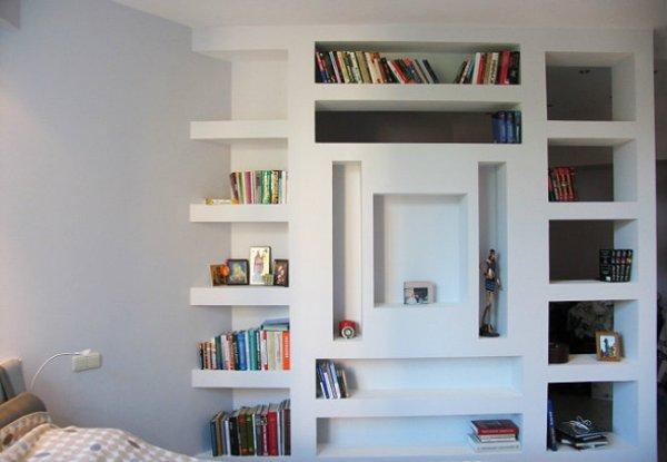 Дизайн ниши из гипсокартона в стене для спальни фото: 100 ...