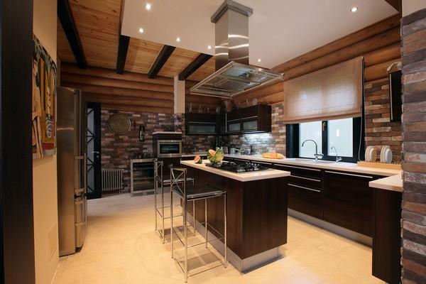 Простой дизайн кухни фото в частном доме – Дизайн кухни в ...