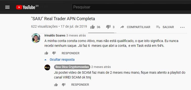 real trader cash piramide acabou pagar caiu scam golpe furada
