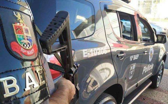 Uma foto da viatura do Baep (Batalhão de Ações Especiais da Polícia)