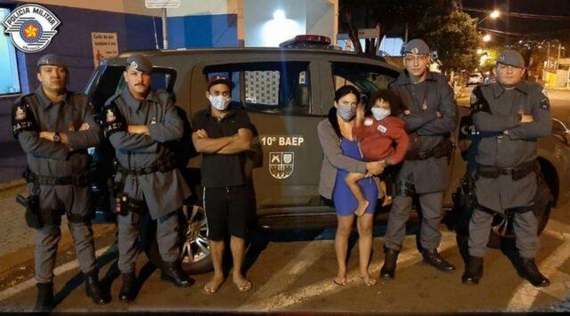 Policiais do BAEP salvam criança de quatro anos que estava engasgada com bala
