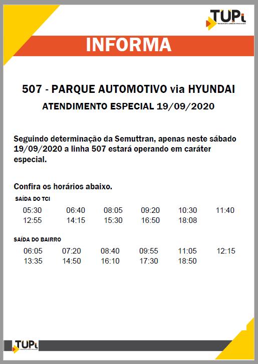 Em Piracicaba, linha 507-Parque Automotiva via Hyundai terá atendimento especial