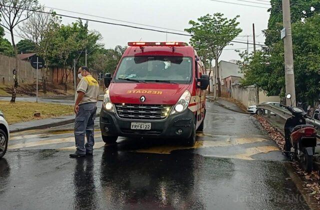 Acidente de moto com mulher de 36 anos causa congestionamento em avenida de Piracicaba