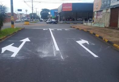 Demutran inicia novas sinalizações para melhorar fluidez no trânsito