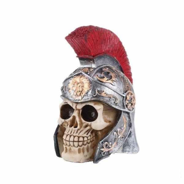 Centurion skull statue side