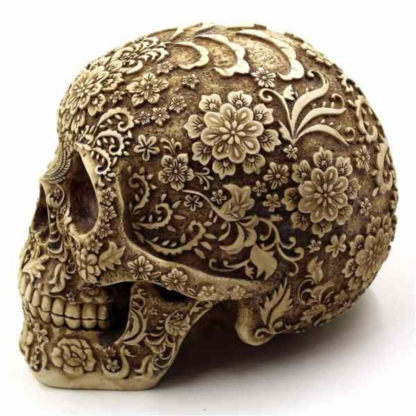 Day of the Dead Skull Ornament side